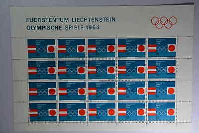 Jahre Lang StöRungsfreien Service GewäHrleisten 01 Herzhaft N6 Liechtenstein 437 Kleinbogen Postfr.