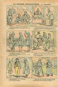 """Caricature Guerre Soldats Poilus Trou Mine Impôts Huissier WWI 1916 ILLUSTRATION - France - Commentaires du vendeur : """"OCCASION"""" - France"""