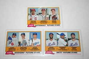 2018-Topps-Archives-Future-Stars-lot-of-3-Robles-Stevenson-Farmer-Rosario