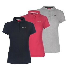 Ladies-LA-Gear-Plus-Size-Short-Sleeves-Pique-Polo-Shirt-Top-Sizes-from-8-to-22