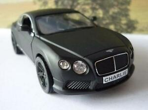 PERSONALISED-PLATE-Gift-Matte-Black-BENTLEY-Boys-Dad-Diecast-Toy-Car-Model-Boxed
