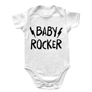 Body Neonato Manica Corta Rock – Baby Rocker – Body Rock - Body Bambino Unisex 1