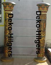 Ägyptische Regal Vitrine Bar Säulenregal  Säule Möbel Deko Anubis Möbel Groß 220