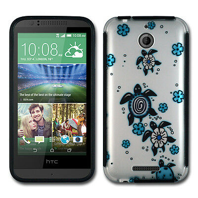 For HTC Desire 510 Rubberized Hybrid Phone Cover Case + Screen Protector