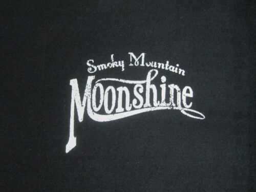 SMOKY MOUNTAIN MOONSHINE WHISKEY MOONSHINERS CHEST LOGO T SHIRT