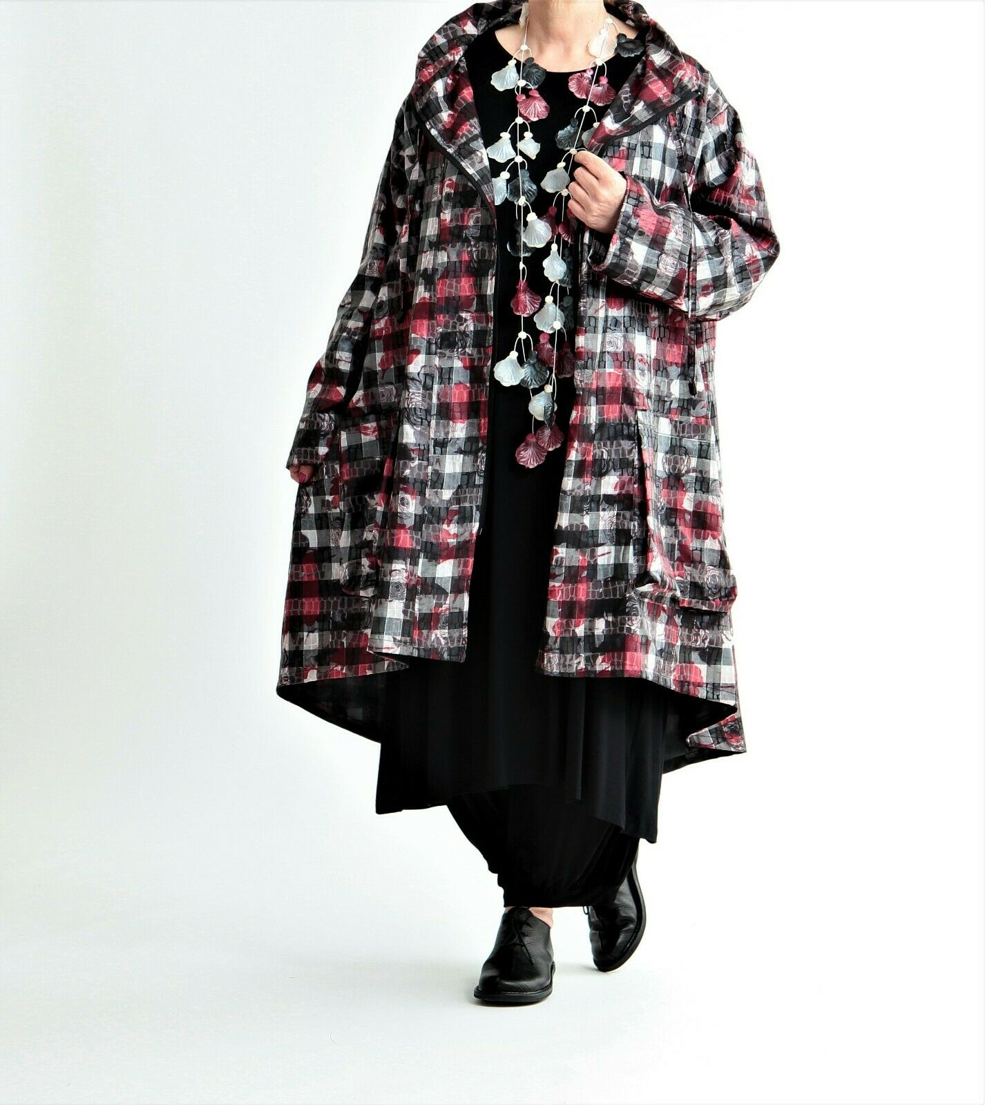9e55444235c097 3 Farben AKH Fashion Mantel Taft Gr. ♢  44,46,48,50,52,54,56,58,60,62,Blaumen nucirq9296-Mäntel & Westen