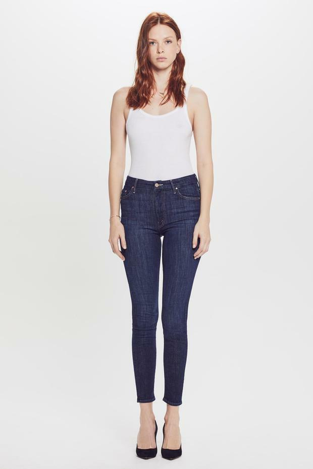 MOTHER Women's The High-Waist Looker Skinny Jeans Clean Sweep Size 31