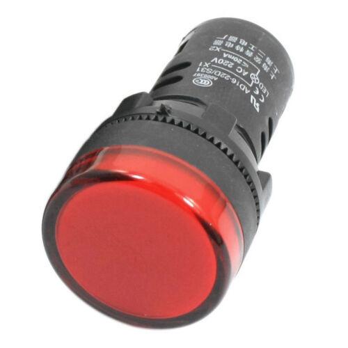 2 Stueck AD16-22D// S 21mm Gewinde Rote LED Kunststoff Signal Pilot Lampe T3E3