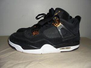 separation shoes d9bae cabc0 Details about Air Jordan Retro 4 Royalty Black Metallic Gold (308497-032)  mens size 11