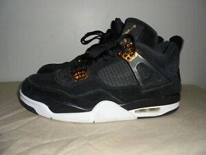 separation shoes 87ff6 14f26 Details about Air Jordan Retro 4 Royalty Black Metallic Gold (308497-032)  mens size 11