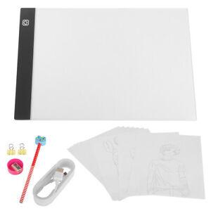 A4 Leuchtplatte Leuchttablett Handwerk mit USB-Kabel für Malen Animation Tattoo
