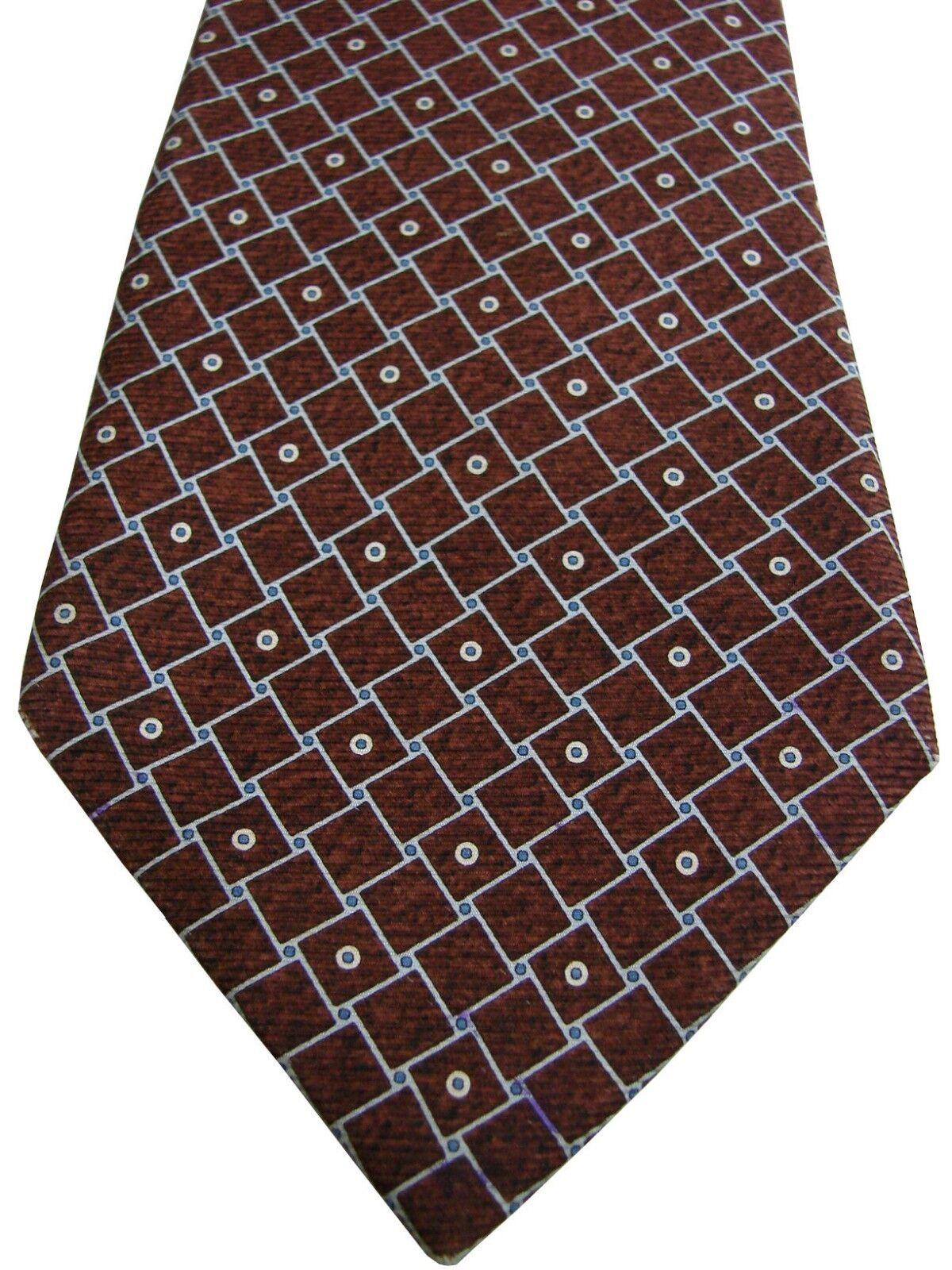 BVLGARI - SEVENFOLD Tie braun - Squares | Elegante Elegante Elegante und robuste Verpackung  425590