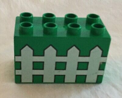 2 Lego Duplo Item Rail Fence white