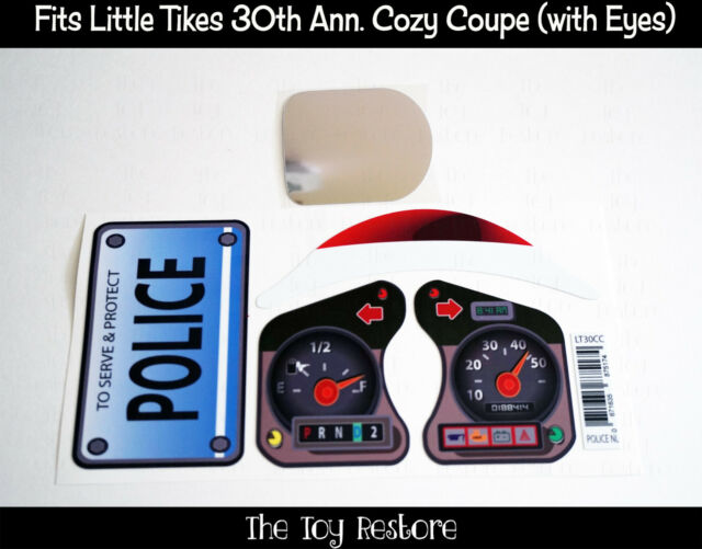 Toy Restore Replacement Stickers fits Little Tikes Tykes Cozy Coupe 30th Police