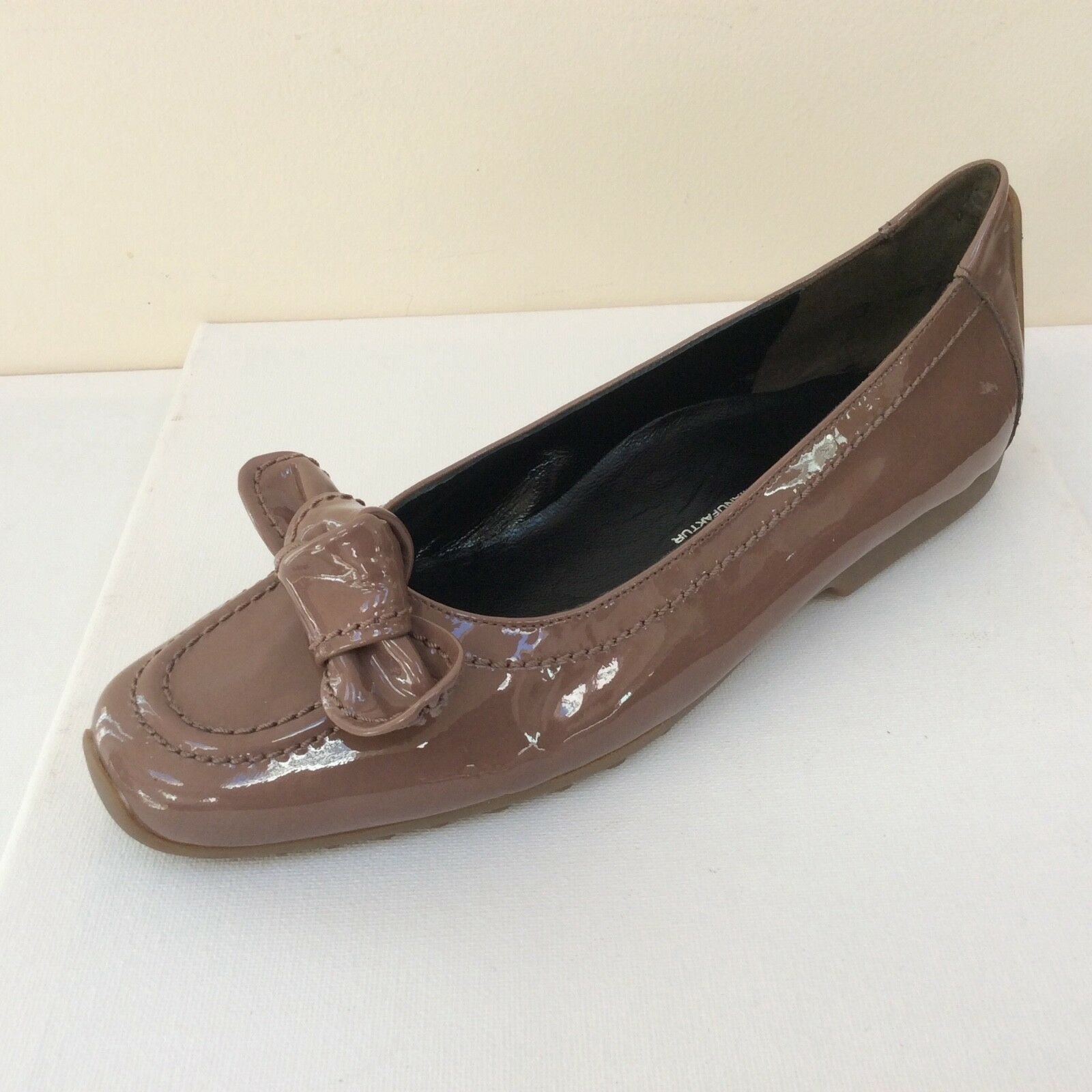 K&S Susa winter rose patent flats with bow detail, UK 5/EU 38,   BNWB