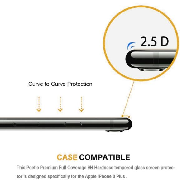 [2-Pack] Apple iPhone 8 / 8 Plus / 7 Plus / X Tempered Glass Screen Protector