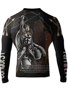 Raven Fightwear Men/'s Four Horsemen Famine Rash Guard MMA BJJ Black