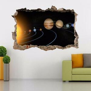 Image Is Loading Solar System Planets Smashed Wall Decal Removable Wall  Part 43