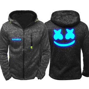 Marshmello-Hoodie-Warm-Jacket-Sport-Sweatshirt-Full-Zip-Coat-DJ-Spring-coat