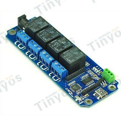 4 Channel USB/Wireless Relay Bluetooth WIFI IOS Android(Temperature DS18B20)