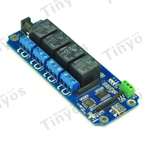 4 Channel USB/Wireless Relay Bluetooth WIFI IOS Android(Temperature DS18B20 )