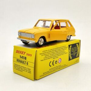 Atlas-Dinky-Toys-1416-Renault-6-Yellow-Diecast-Models-Collection-Cars-1-43