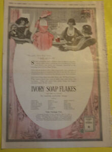 Details About Ivory Soap Flakes Las Ad 1920 Quaker Oats Page Great Picture See