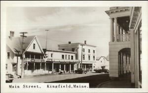 Kingfield-ME-Main-St-Real-Photo-Postcard