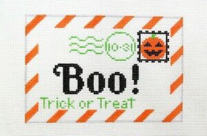 Rachel-Donley-Boo-Halloween-Special-Delivery-Handpainted-Needlepoint-Canvas