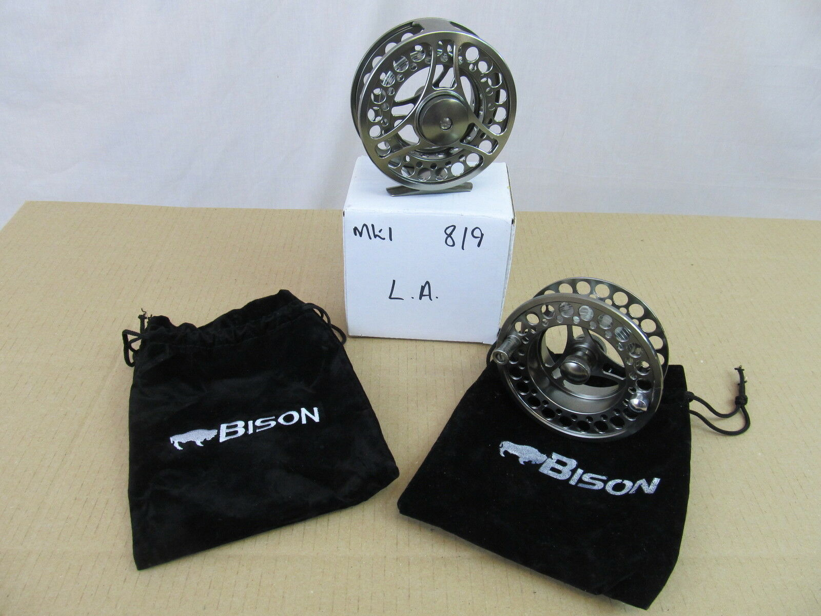 Special Offer Bison LA   9 Large Arbor Fly Fishing Reel & Spare Spool  cost-effective