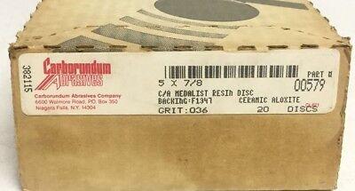 "12/"" 36 GRIT A//O R//B ADHESIVE BACKED PRESSURE SENSITIVE DISC CARBORUNDUM"