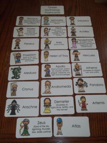 23 Greek Mythology Flashcards Preschool thru 4th grade History educational act