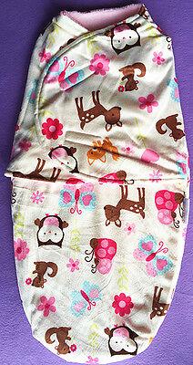 SWADDLE Wrap Boy Seelpsacks Sleeping Bags JUST CUTE Blue Owl size 3-6mths BNWT