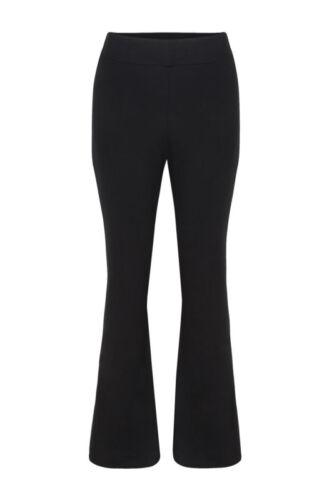 Le donne Pull On PONTE gamba svasata elasticizzati pants pantaloni taglia 12-18 lavoro formale