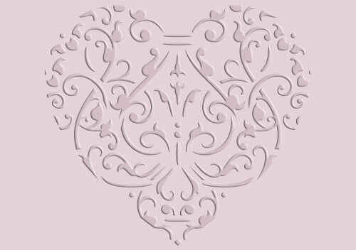 Love Coeur Floral Vintage modèle fabrication carte PEINTURE MOBILIER Artisanat Art HE9