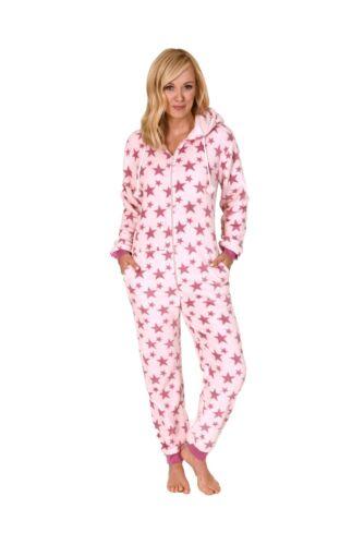 267 97 001 Damen Schlafanzug Einteiler Jumpsuit Onesie Overall langarm