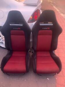 Honda-Civic-FD2R-FN2R-Type-R-Recaro-Pair-With-Original-Ralling