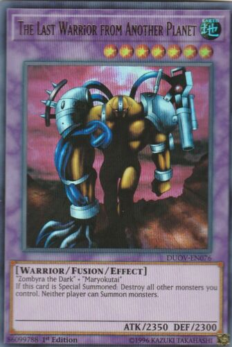 YUGIOH HOLO CARD THE LAST WARRIOR FROM ANOTHER PLANET DUOV-EN076 1ST EDITION