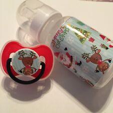 Must see reborn Baby pacifier 10 pockets bottle,diapers,doll, preemie,monkey