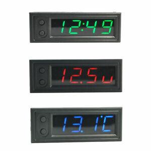 3-In-1-Auto-Innen-Digital-LCD-LED-Armaturenbrett-Uhr-KFZ-Thermometer-Voltmeter