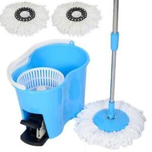 Felji-Microfiber-Spin-Mop-Easy-Floor-Mop-with-Bucket-and-2-Heads