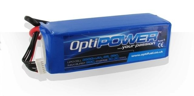 OptiPower Lipo Battery 3000mAh 6S 30C