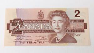 1986-Canada-2-Two-Dollars-BGG-Prefix-Canadian-Uncirculated-Banknote-G199