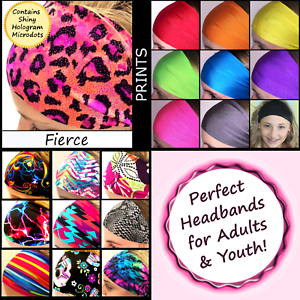 Baby Sparkles Headbands Shiny Tiny Foil Dots Durable Wide Adults Youth Fierce
