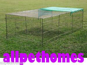 Rabbit-Chicken-Guinea-Pig-Ferret-Cage-House-Hutch-WIRE-RABBIT-RUN-ONLY