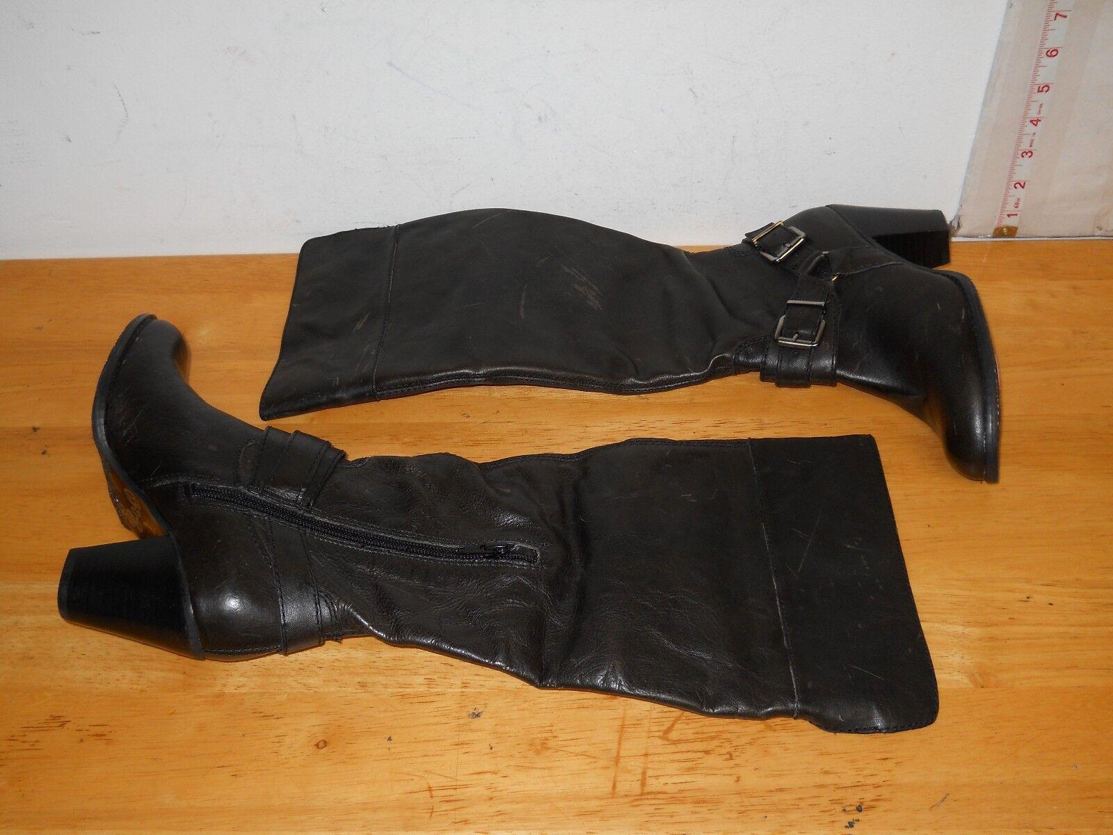 Arturo Chiang NEU Damenschuhe Vala Distressed Charcoal Stiefel 6.5 M Schuhes NWOB