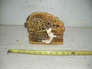 Old-Vintage-McCoy-Spinning-Wheel-Planter-w-Scottie-Dog-amp-Cat
