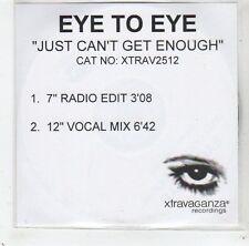 (GC870) Eye To Eye, Just Can't Get Enough - 2001 DJ CD