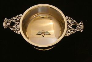 Para-Wings-Quaich-Scottish-Drinking-Bowl-Pewter-Stainless-Steel-BGK43