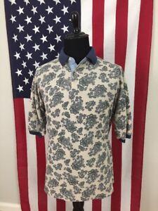 vtg-90s-Bugle-Boy-Paisley-Polo-Shirt-men-039-s-XL-All-Over-Boho-Hipster-Hippie-27318